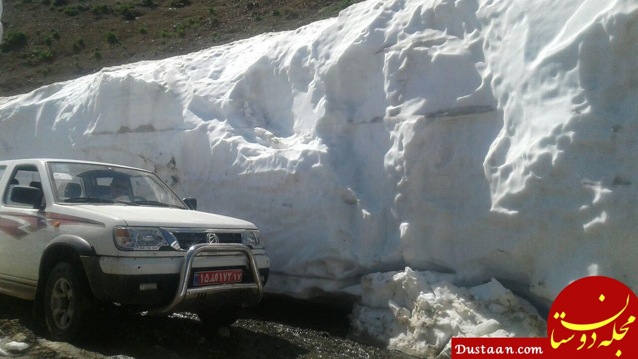 www.dustaan.com برف چند متری در جاده اشنویه آذربایجان غربی +عکس