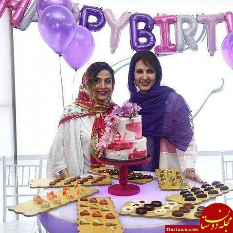 فیلم و عکس های جشن تولد فاطمه گودرزی در کنار دختر و عروسش در جشن تولد ۵۶ سالگی
