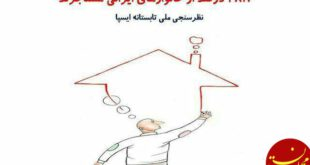 چند درصد مردم ایران مستاجرند؟