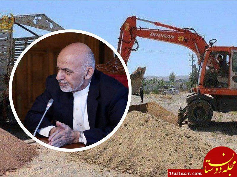 www.dustaan.com ساخت مسجدی در کابل با خاک همه شهرستان های افغانستان +عکس