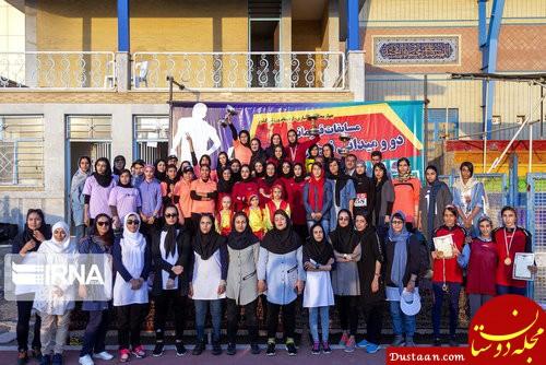 مسابقات دو و میدانی دختران در شهرکرد +تصاویر