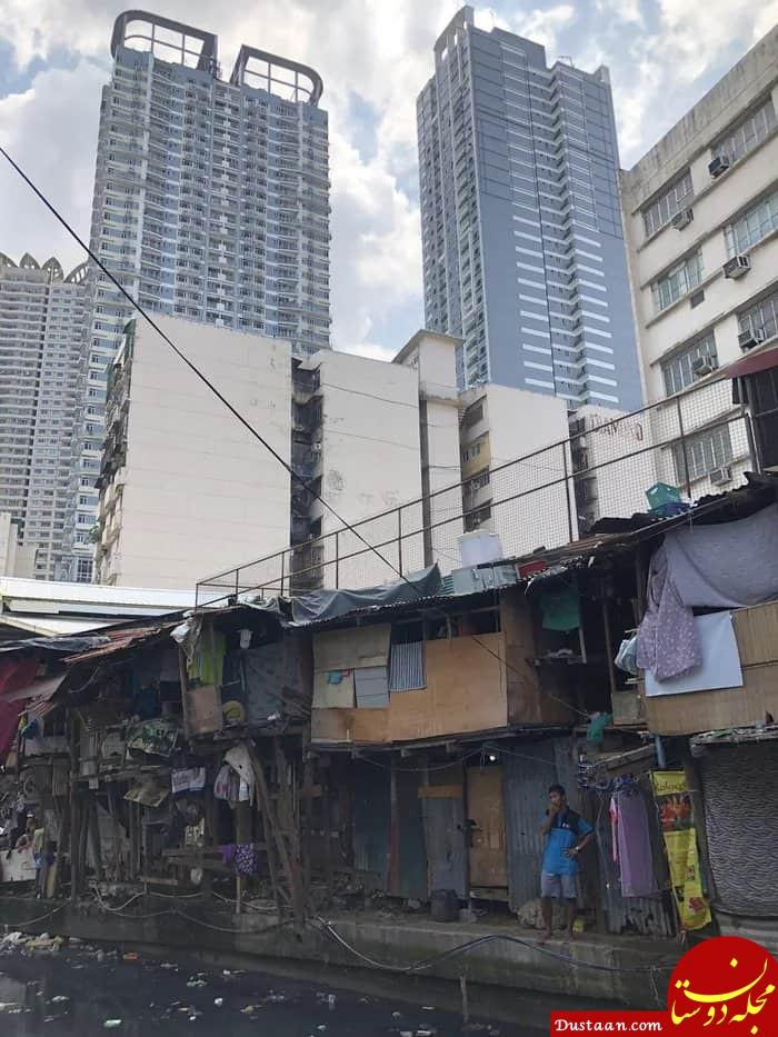 www.dustaan.com اختلاف طبقاتی در پایتخت فیلیپین! +عکس