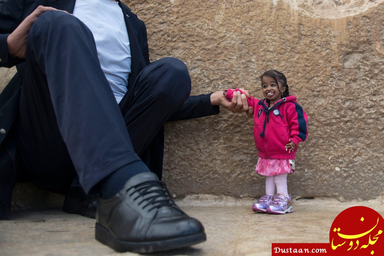 کوچکترین و بزرگترین مرد جهان در یک قاب! +عکس