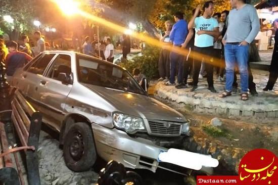 www.dustaan.com راننده پراید، مردم را زیر گرفت و متواری شد +عکس
