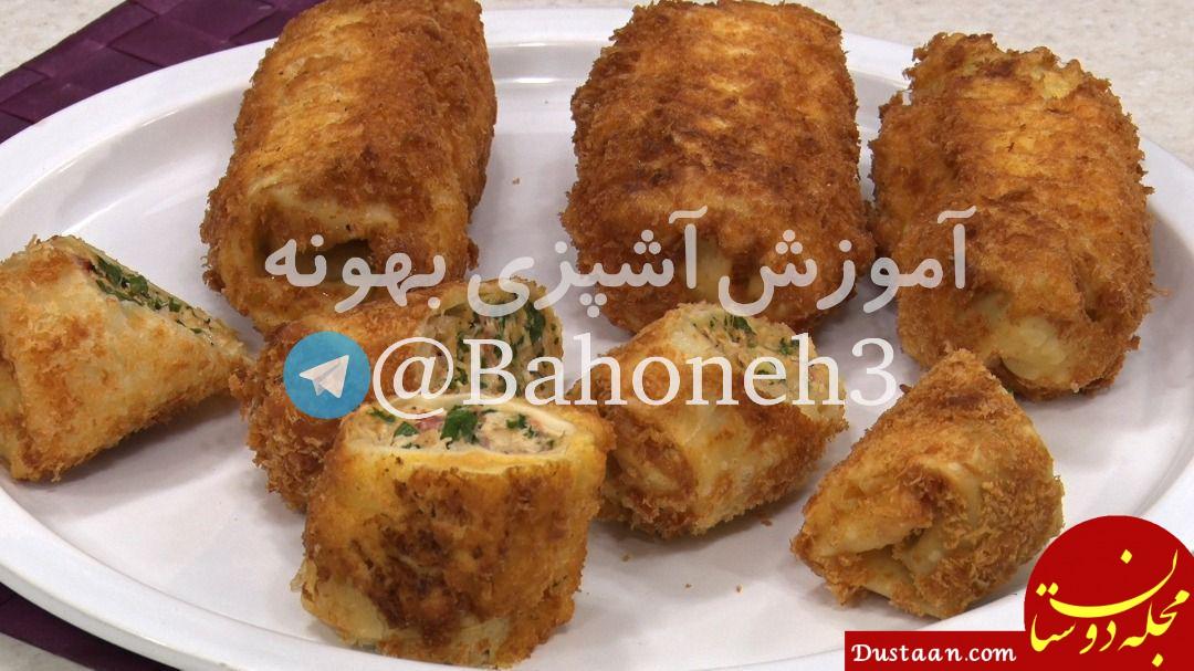 www.dustaan.com طرز تهیه رول ماهی سوخاری به سبکی خوشمزه و متفاوت