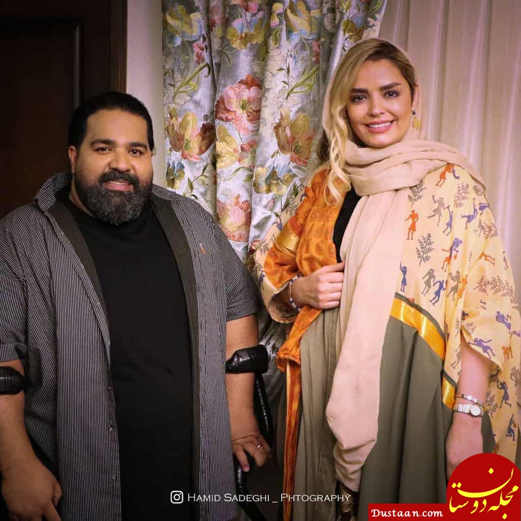www.dustaan.com عکس دیدنی سپیده خداوردی در کنار خواننده مشکی پوش!