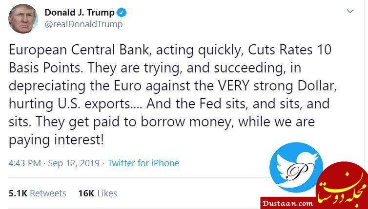 www.dustaan.com حمله ترامپ به بانک مرکزی آمریکا