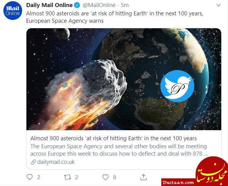 www.dustaan.com احتمال برخورد 900 سیارک به زمین در 100 سال آینده! +عکس