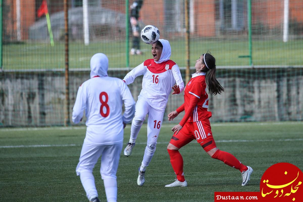 www.dustaan.com پیروزی دختران فوتبالیست ایران در تورنمنت کافا