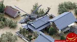 پرواز ماشین ها و فروریختن خانه ها در طوفان هاگیبیس ژاپن +فیلم