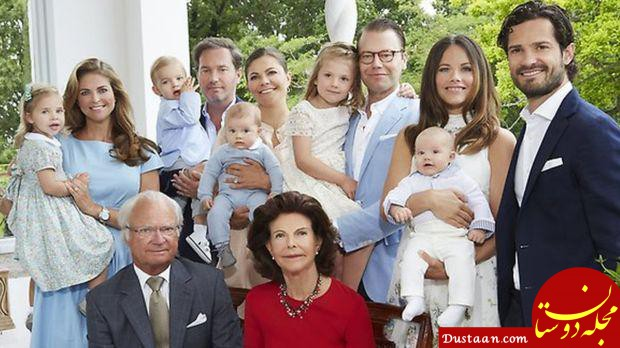 www.dustaan.com پادشاه سوئد ۵ نوه خود را از مزایای سلطنتی خلع کرد!