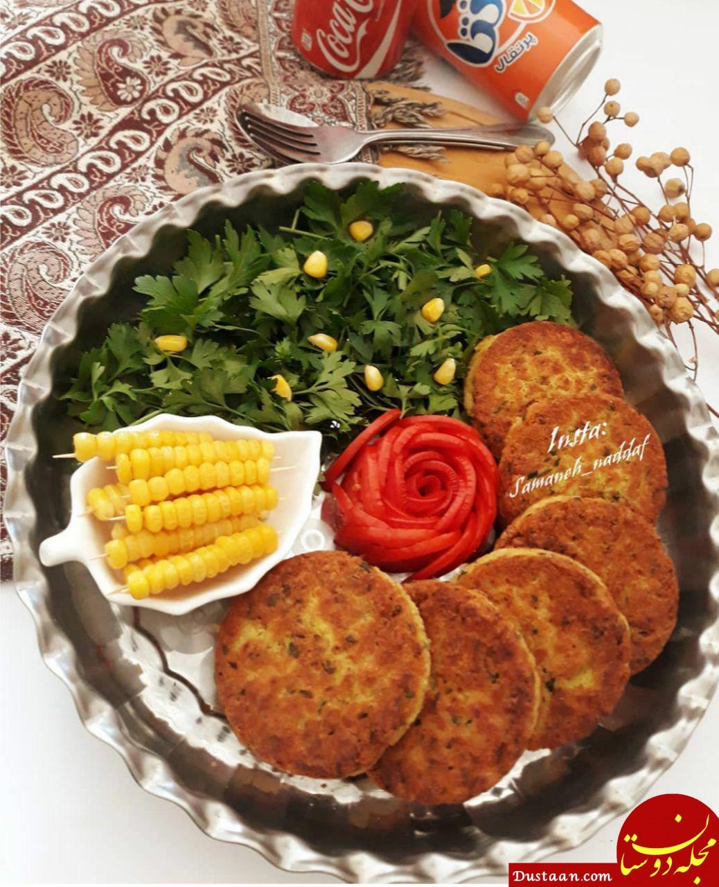 www.dustaan.com طرز تهیه کتلت لوبیا سفید به سبکی خوشمزه و متفاوت