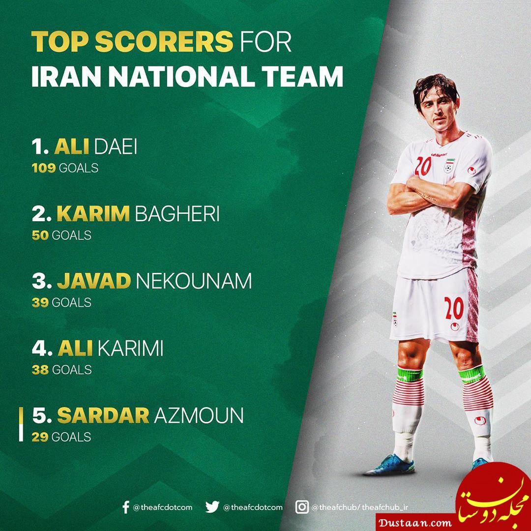www.dustaan.com برترین گلزنان تاریخ تیم ملی ایران
