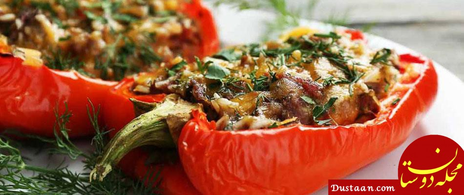 www.dustaan.com طرز تهیه دلمه سبزیجات مکزیکى به سبکی خوشمزه
