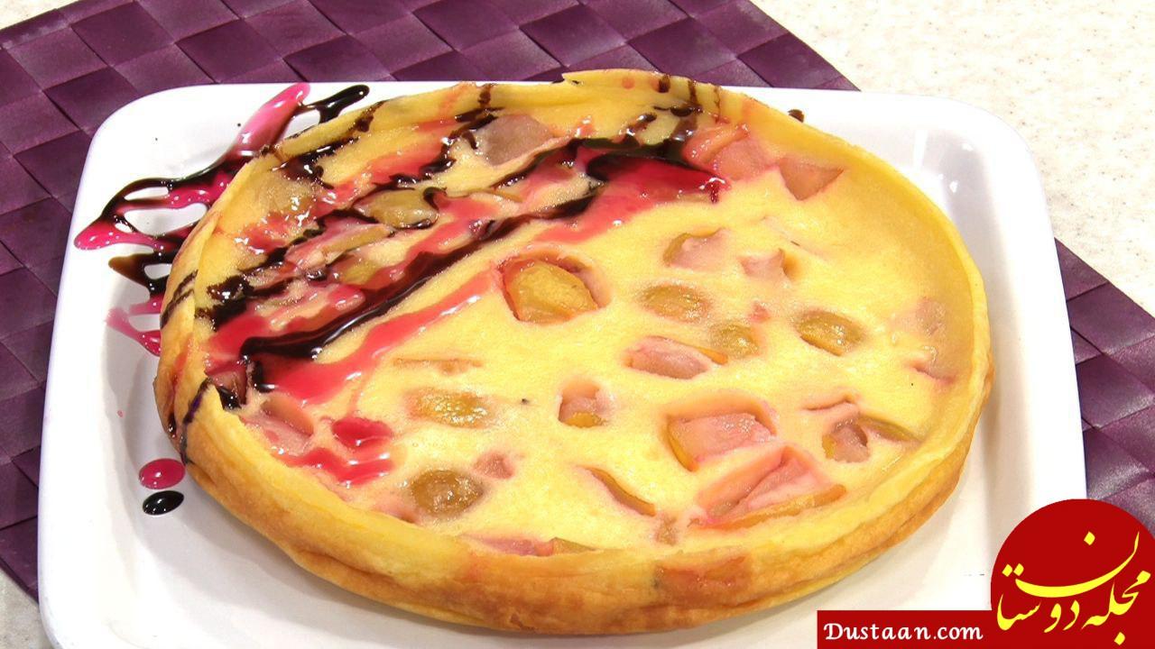 www.dustaan.com طرز تهیه کیک تابه ای گلابی ؛ خوشمزه و متفاوت