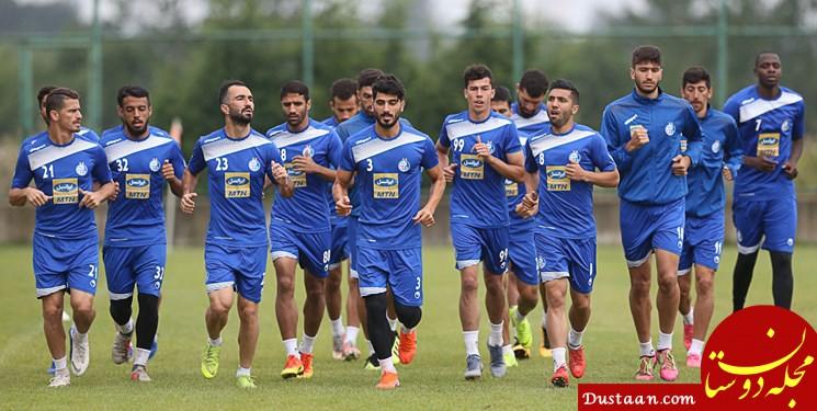 www.dustaan.com غیبت مشکوک چند بازیکن در تمرین امروز استقلال
