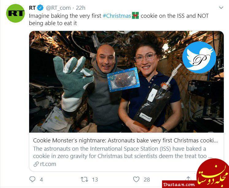 ساخت اولین کیک کریسمس در فضا +عکس