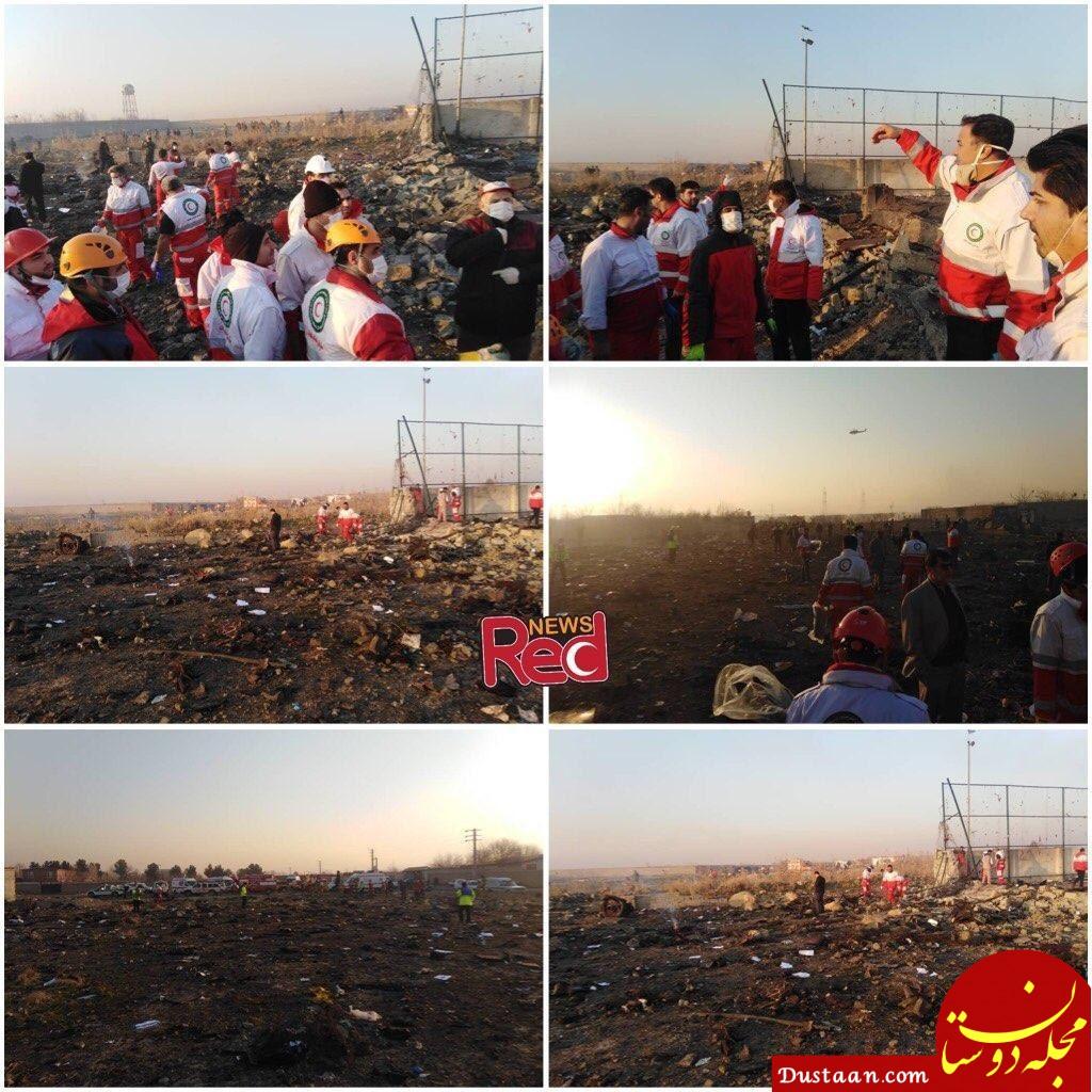 www.dustaan.com تصاویری از محل سقوط هواپیمای اکراینی +فیلم