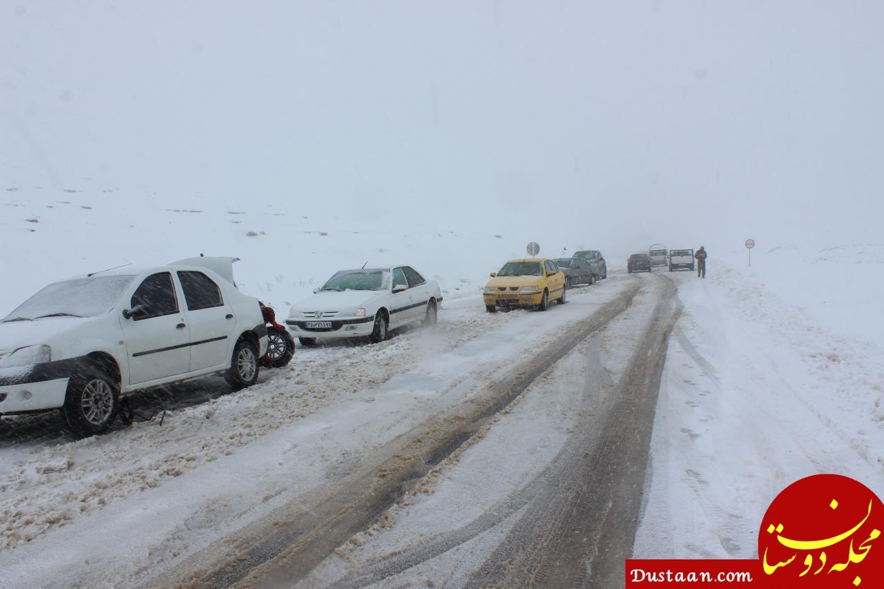 لغزندگی جاده های همدان منجر به ۸۰ فقره تصادف شد