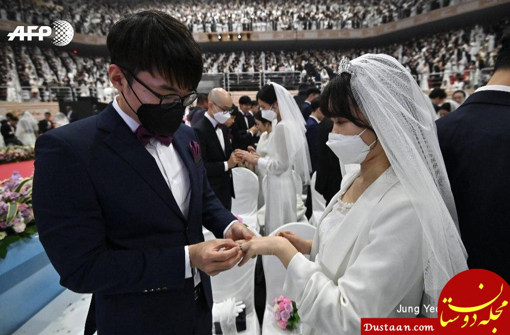 ازدواج دسته جمعی در کره جنوبی با ترس از ویروس کرونا