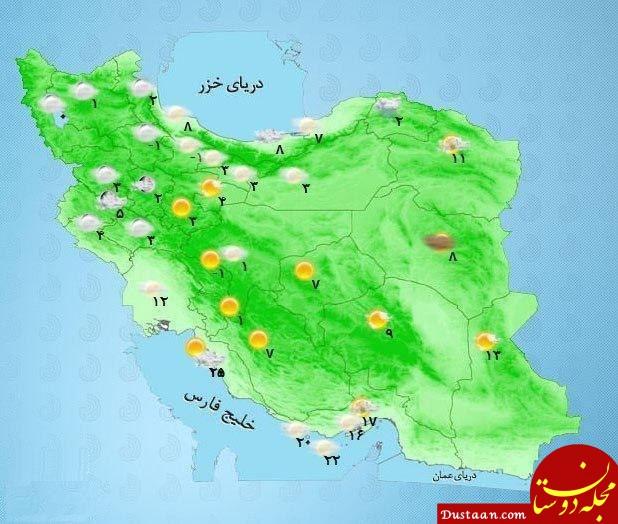 بارش برف و باران در برخی استان های واقع در شمال شرق کشور /2 اسفند 98