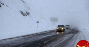 بارش برف در محورهای هراز و فیروزکوه