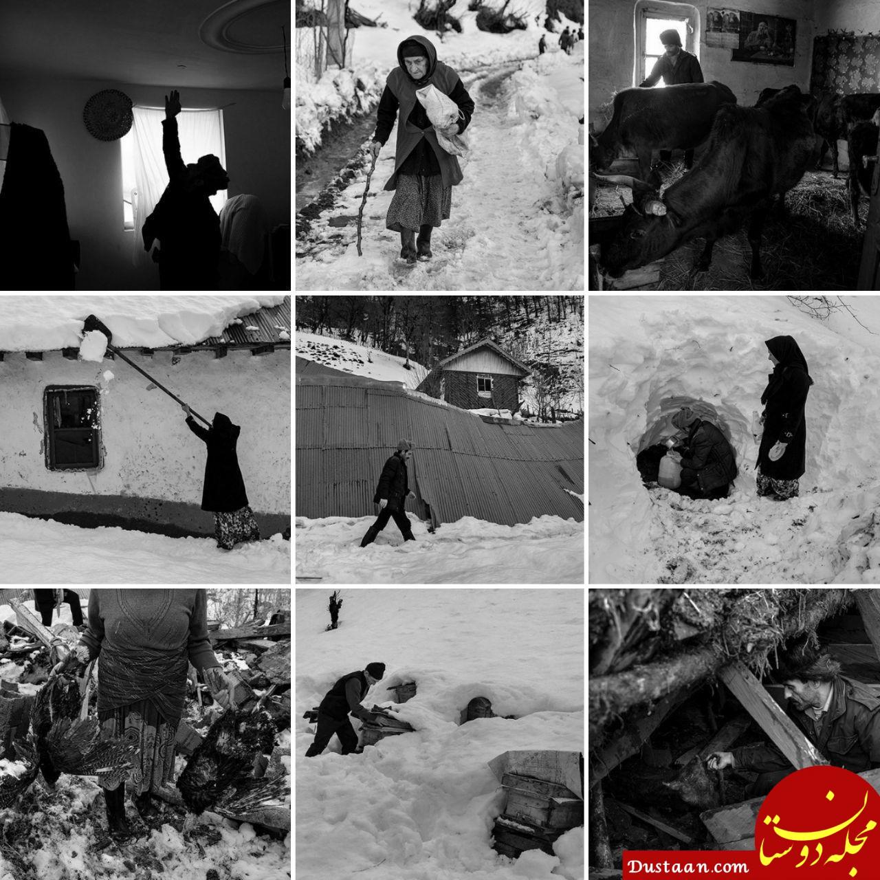 www.dustaan.com بحران برف در گیلان پس از شش روز