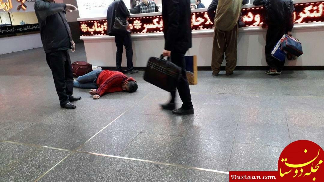 www.dustaan.com - تکذیب تصویر مربوط به فرد مبتلا به کرونا در ترمینال غرب