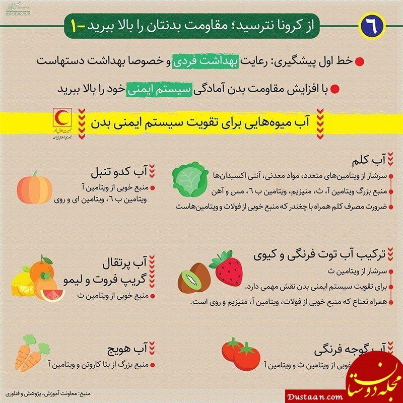 www.dustaan.com ویتامین؛ دشمن کرونا