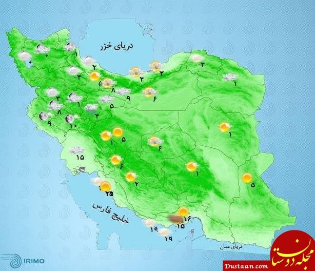 www.dustaan.com پیش بینی بارش برف و باران در برخی استان ها / 30 بهمن 98