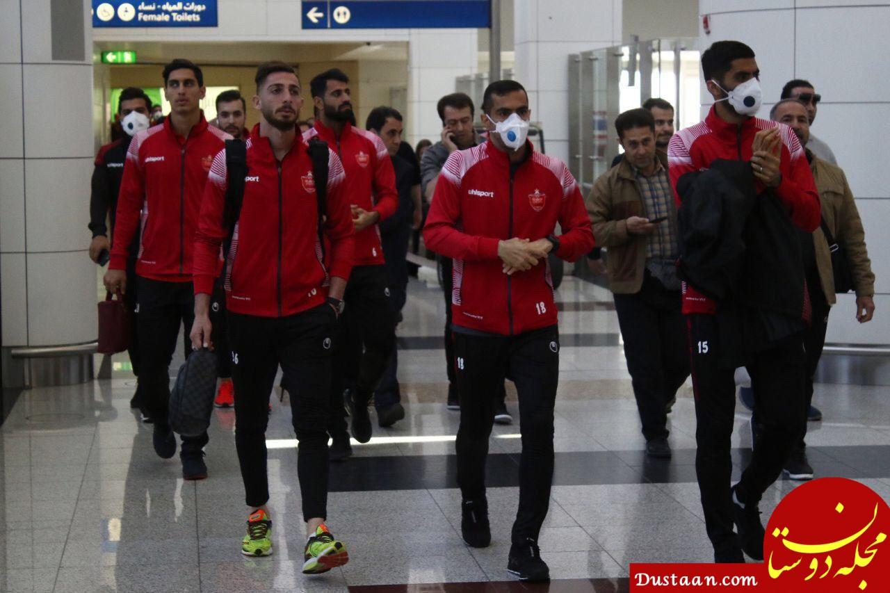 www.dustaan.com - تیم فوتبال پرسپولیس به دبی رسید