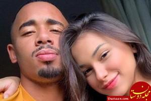 www.dustaan.com پایان رابطه عاشقانه فوتبالیست مشهور با مدل برزیلی +عکس