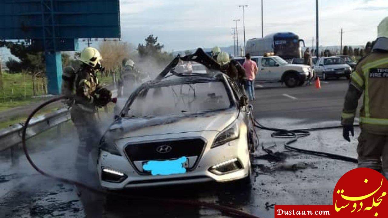 .jpg - انفجار یک دستگاه سواری هیوندا در آزادراه تهران - قم