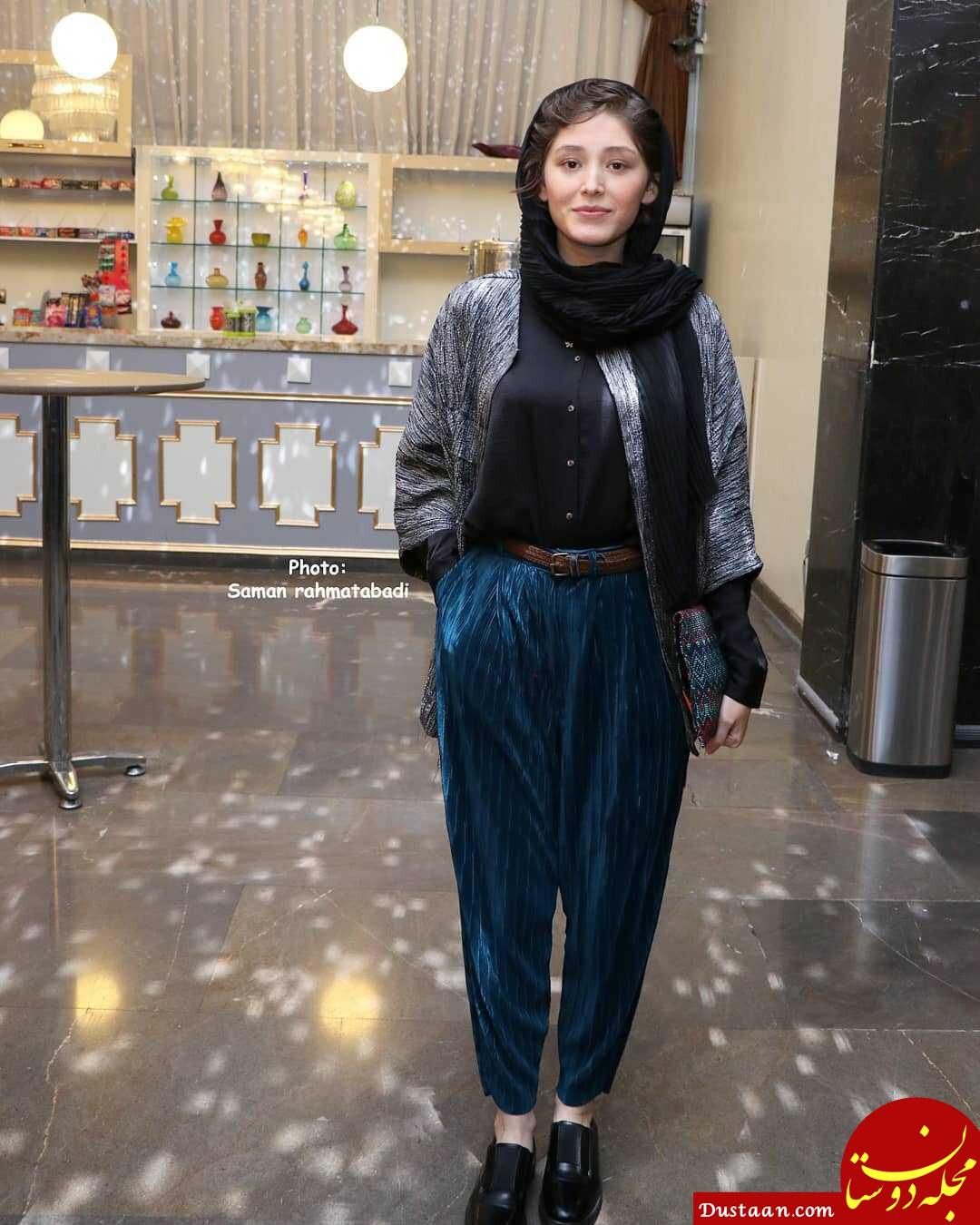 تیپ عجیب و غریب فرشته حسینی در جشنواره فیلم فجر +عکس