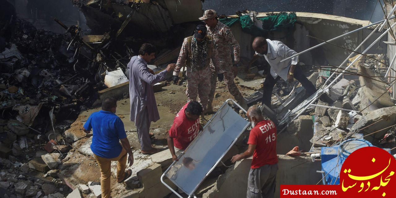 سقوط هواپیمای پاکستانی با ۱۰۷ سرنشین