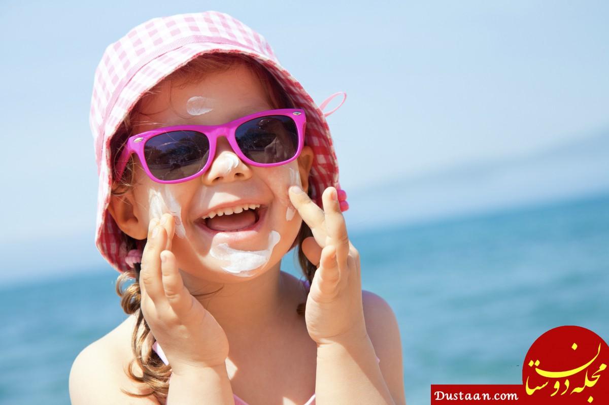 استفاده از کرم ضد آفتاب کودکان و باورهای نادرست!