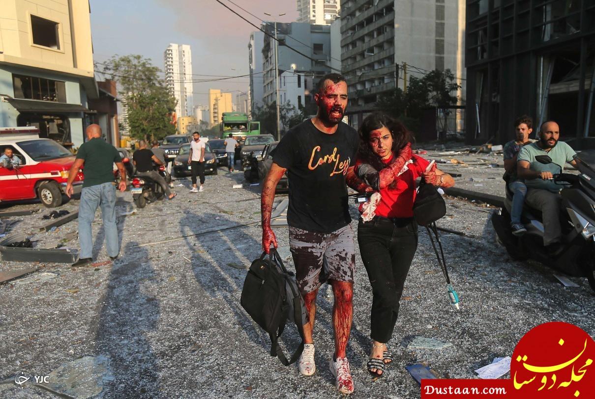 شدت انفجار بیروت با انفجار یک بمب هسته ای قابل مقایسه است +تصاویر