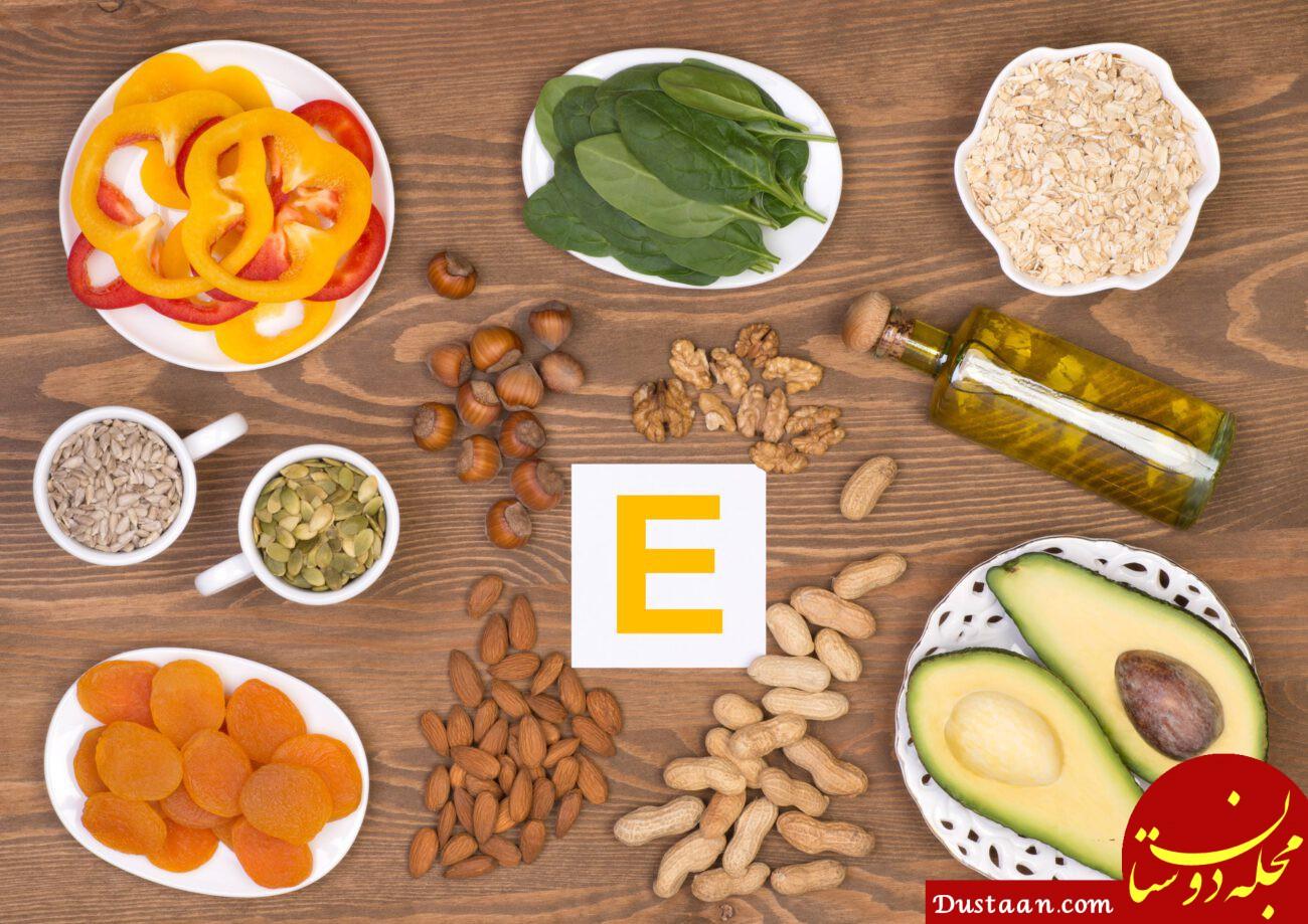 عوارض مصرف بیش از حد ویتامین E