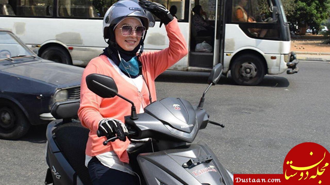 راه اندازی تاکسی موتوری زنان در لبنان +عکس
