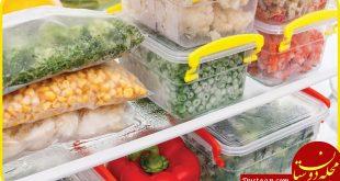 اصول نگهداری غذا در فریزر