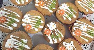 طرز تهیه کاپ کیک پاییزی هویج و گردو