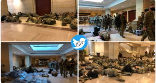 انتشار هدفدار تصاویر سربازان گارد ملی در داخل ساختمان کنگره!