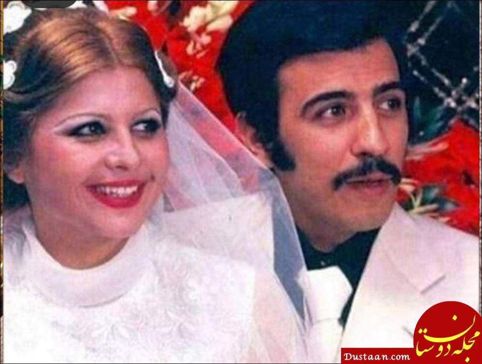 عکس جالب از عروسی علی حاتمی و زری خوشکام