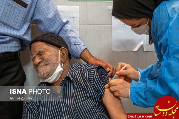 تصویر پرستار ایرانی هنگام تزریق واکسن سوژه شد