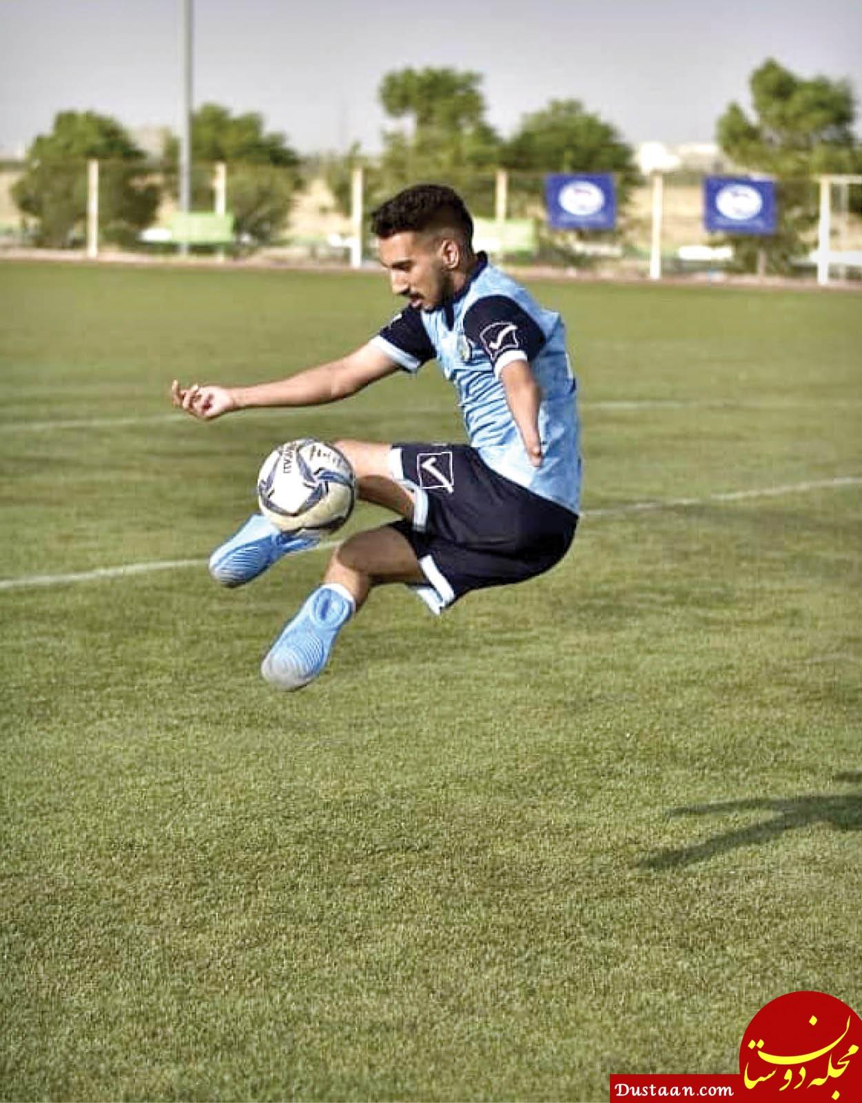 فوتبالیست هستم و دونده اما بدون پا!