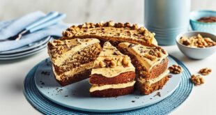 طرز تهیه کیک نسکافه گردویی ، بسیار خوشمزه و متفاوت