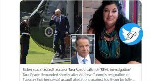 این زن خواستار استعفای بایدن به دلیل آزار جنسی شد!