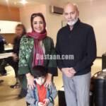 ساناز سماواتی و فرزندش در کنار جمشید هاشم پور +عکس