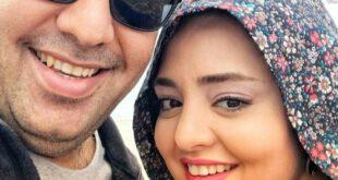 تصویری از نرگس محمدی بازیگر ۳۴ ساله سینما و تلویزیون را به همراه همسرش علی اوجی مشاهده می کنید، از فیلم های مط...