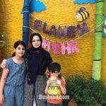 الهه رضایی در کنار برادرزاده هایش +عکس